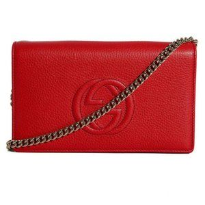 Gucci Soho Disco Red Crossbody Shoulder Bag